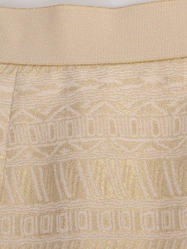 Modna spódnica z połyskującej tkaniny 16631.