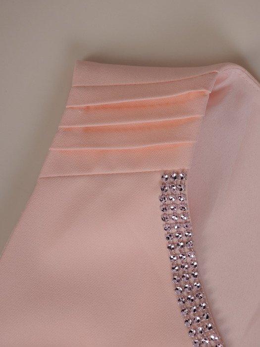 Modna sukienka z aplikacją z cyrkonii Petronela I.