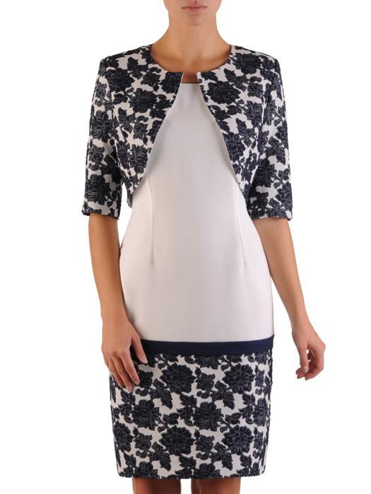 Modna sukienka z żakardowym żakietem 22278