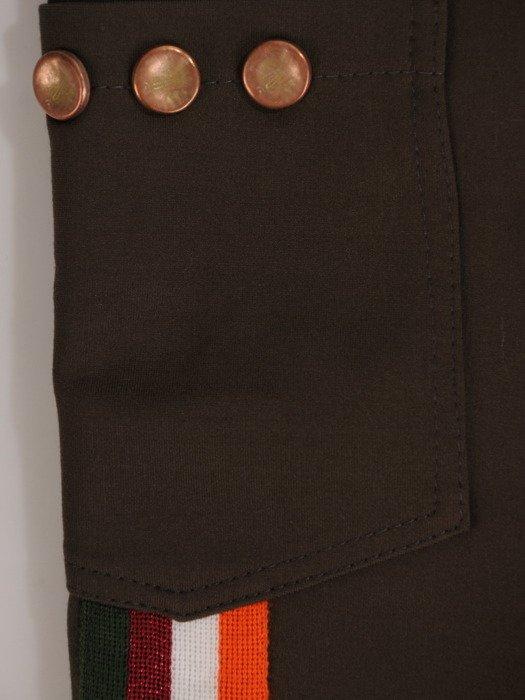 Modne spodnie z ozdobnymi lampasami 18707