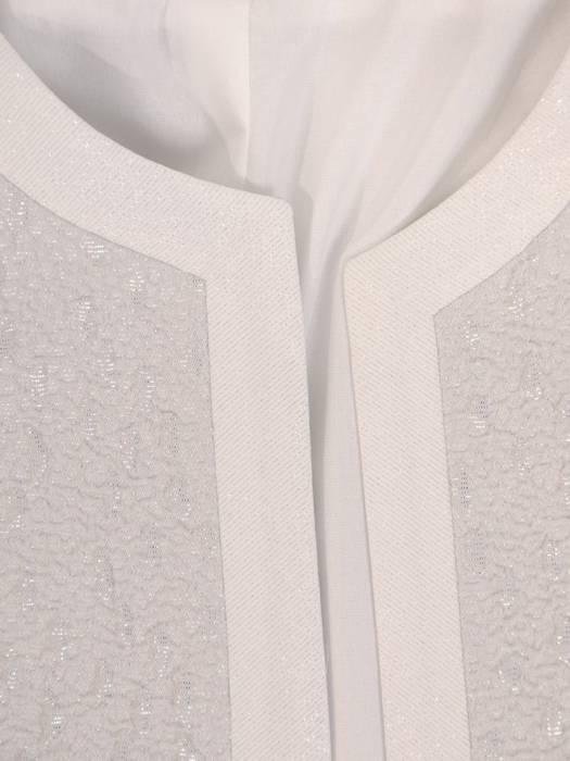 Modny kostium z żakardu, elegancki komplet na wesele 28864