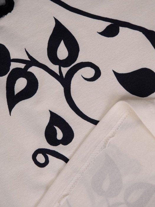 Modny, wzorzysty top bez rękawów 15545.