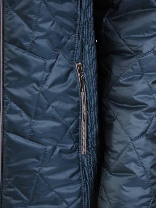 Morska kurtka damska z ozdobnym futerkiem 31027