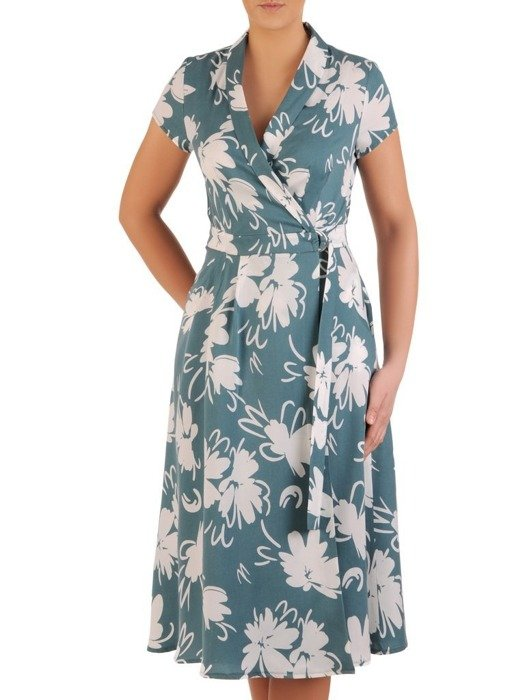 Nowoczesna sukienka kopertowa 25313