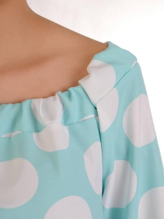 Oryginalna bluzka, tunika z gumką przy dekolcie 29508