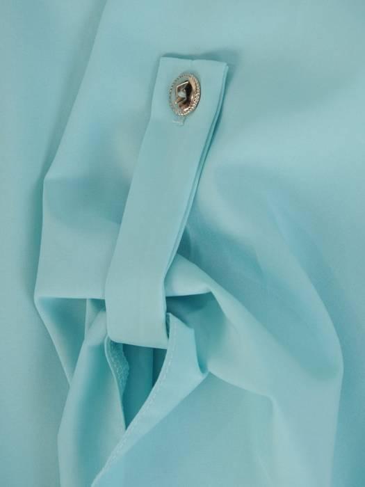 Pastelowa bluzka koszulowa ze stójką 29558