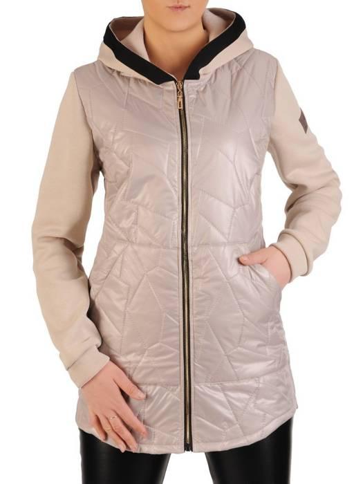 Pikowana kurtka damska na wiosnę w kolorze beżowym 28841