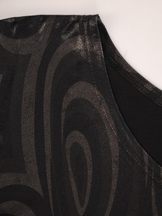 Połyskująca bluzka z modnym paskiem Irmina I.