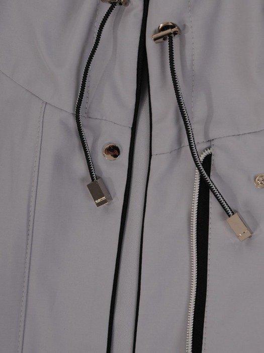 Popielata kurtka z ozdobnymi zamkami 24634
