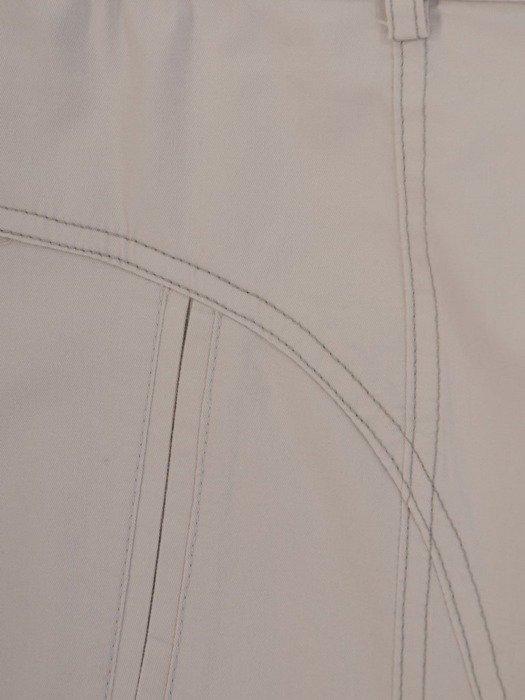 Popielata spódnica z bawełny 24655
