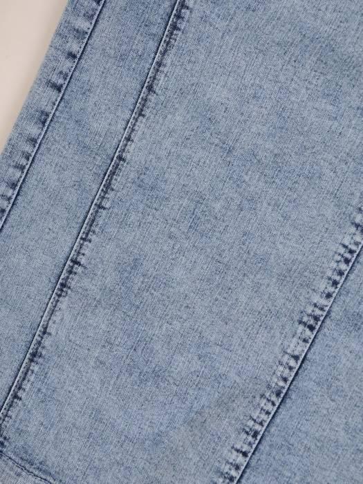 Prosta spódnica z tkaniny dżinsowej 29743