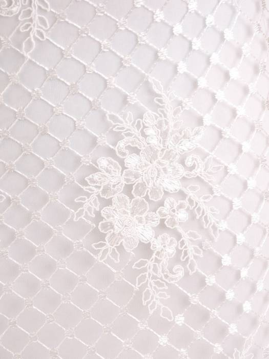 Prosta sukienka ecru z kopertowym dekoltem, kreacja na wesele 26870