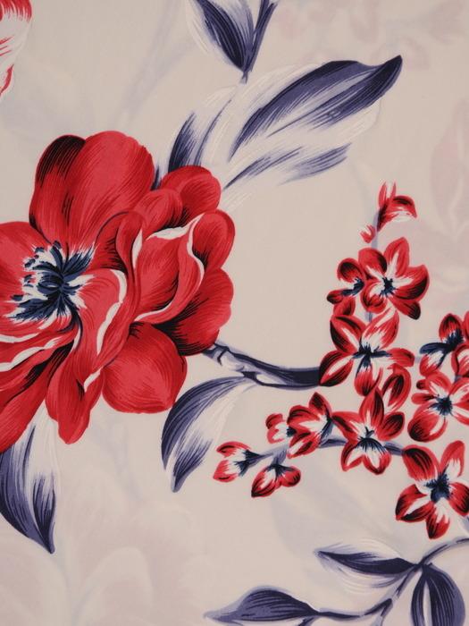 Prosta sukienka z dzianiny w kwiaty, modna kreacja z krótkimi rękawami 21673