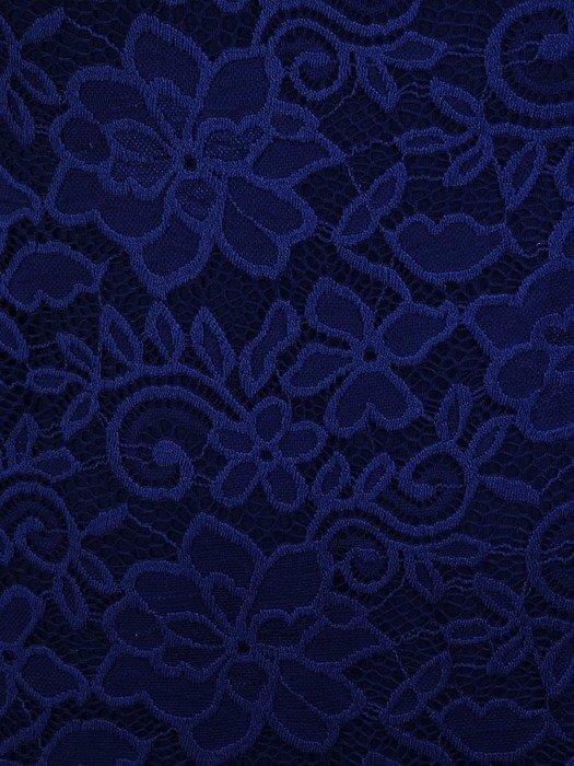 Prosta sukienka z koronki, kreacja z ozdobnymi rękawami 22578