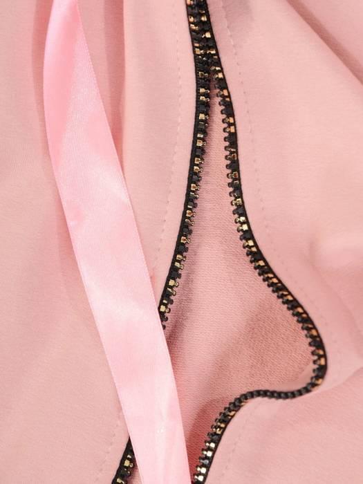 Pudrowy dres damski, wygodne spodnie z bluzą zapinaną na zamek 29637