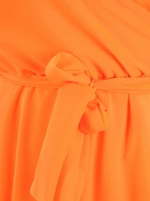 Rozkloszowana sukienka maxi, kreacja ze zwiewnego szyfonu 30407