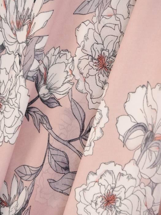 Rozkloszowana sukienka na lato, kreacja z kopertowym dekoltem 29897
