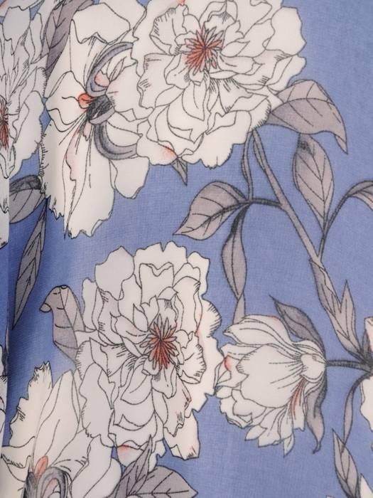 Rozkloszowana sukienka na lato, kreacja z kopertowym dekoltem 29898