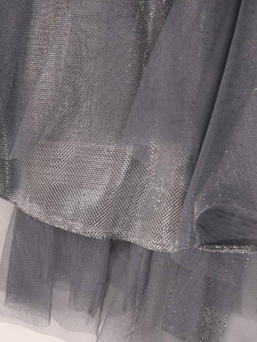 Rozkloszowana sukienka na wesele, kreacja z połyskującego materiału 30749
