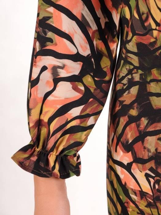 Rozkloszowana sukienka w ciekawy wzór 27301