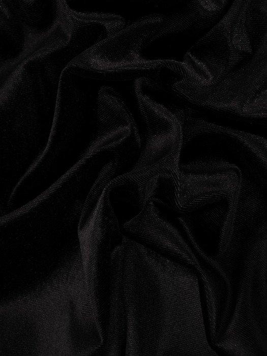 Rozkloszowana sukienka z aksamitu, kreacja w kolorze czarnym 18893