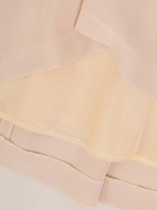 Rozkloszowana sukienka z kokardą, kreacja z koronkowym topem 30146