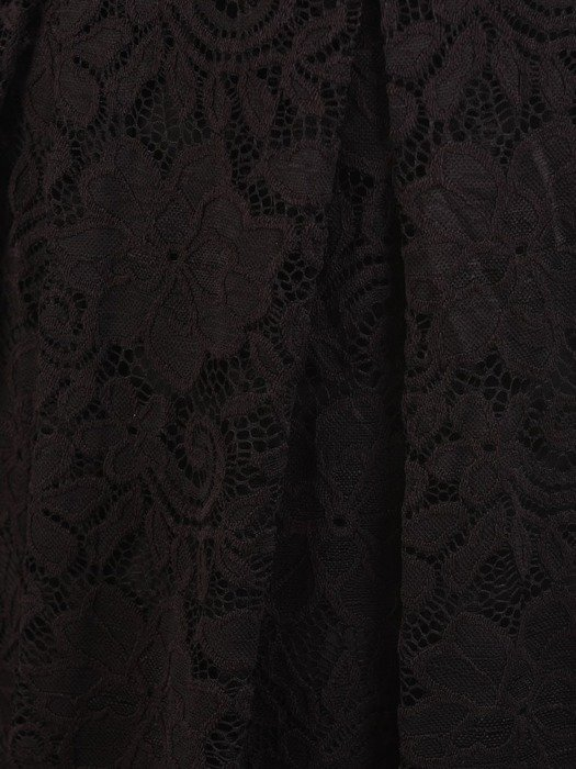 Rozkloszowana sukienka z koronki, modna kreacja z kontrafałdą 22628