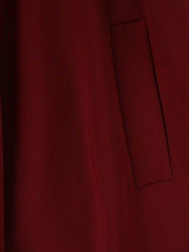 Rozkloszowana sukienka z modnym kołnierzem 14804, elegancka kreacja z paskiem.