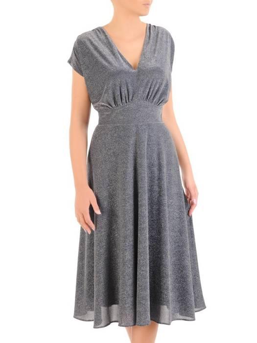 Rozkloszowana sukienka z połyskującej dzianiny 30504