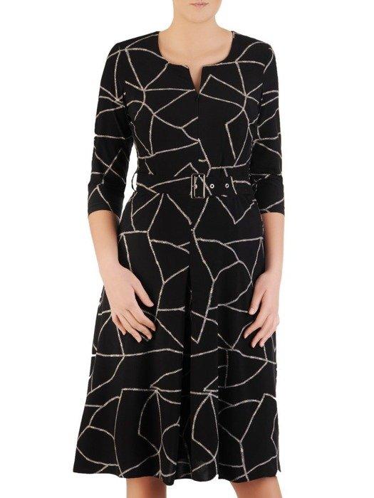 Rozkloszowana sukienka z zamkiem przy dekolcie 24338