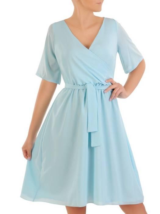 Rozkloszowana sukienka ze zwiewnego szyfonu 30313