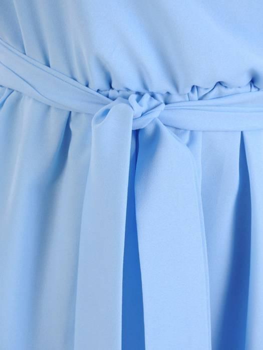 Rozkloszowana sukienka ze zwiewnego szyfonu 30314