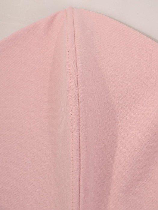 Różowa wieczorowa mini sukienka gorsetowa 24899