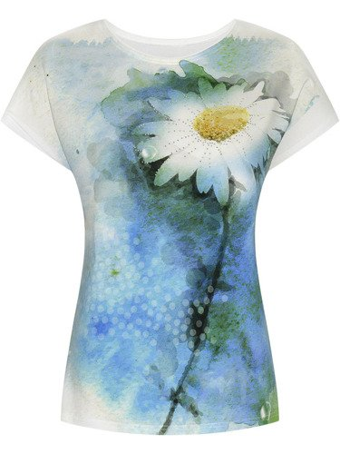 Śliczna bluzka z ozdobnym kwiatem Konsuela