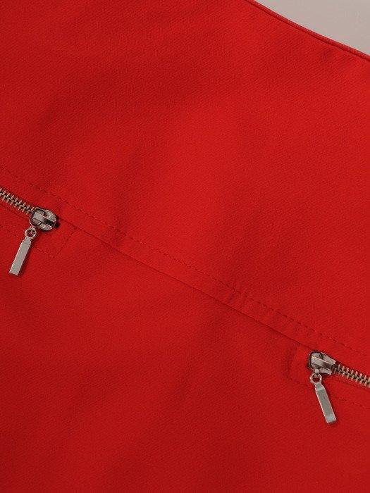 Spódnica ozdobiona suwakami Łucja II.