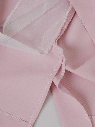 Sukienka damska 15090, pudrowa kreacja w prostym fasonie.