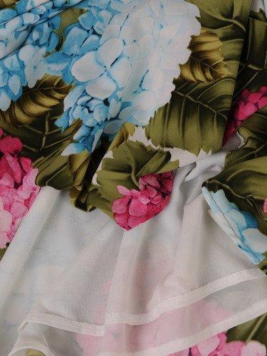 Sukienka damska 15093, wiosenna kreacja w kwiaty.
