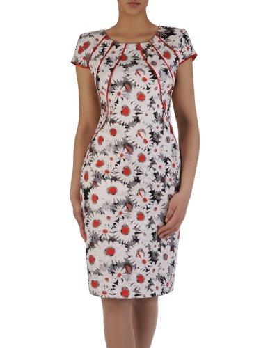 Sukienka damska 15766, wiosenna kreacja w kwiaty.