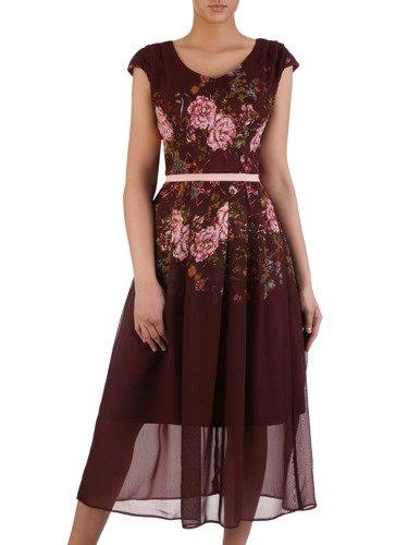 Sukienka damska 15872, wyszczuplająca kreacja z szyfonu.