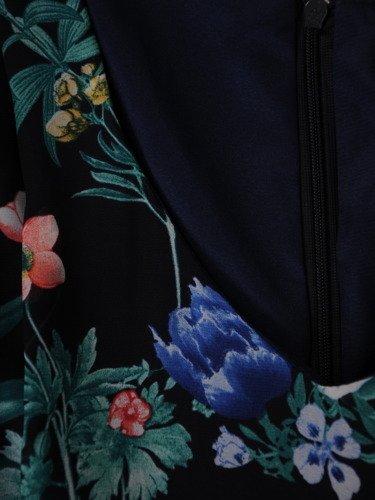 Sukienka damska 16193, zwiewna kreacja z szyfonu.