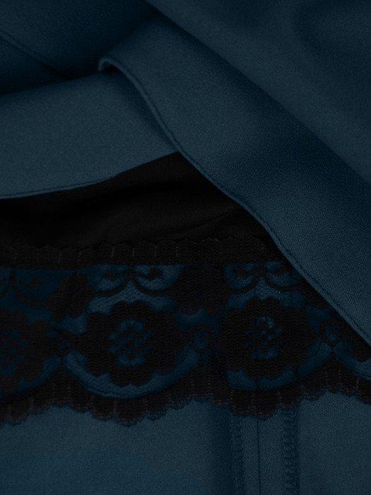 Sukienka damska 18594, morska kreacja w kopertowym fasonie.