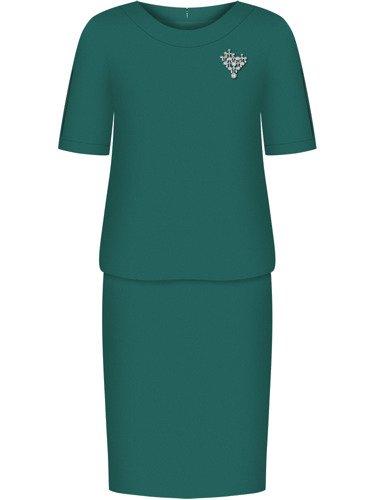 Sukienka damska Anatola II, zielona kreacja wyjściowa.