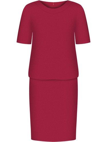 Sukienka damska Anatola III, czerwona kreacja wyjściowa.