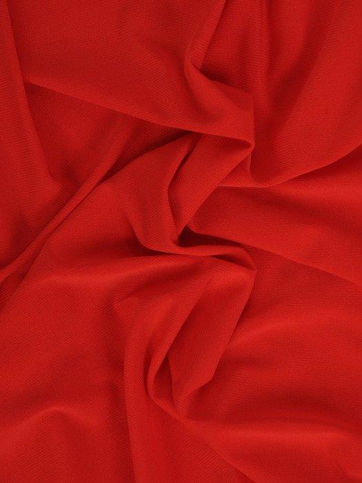 Sukienka damska Aneza I, czerwona kreacja z kopertowym dekoltem.