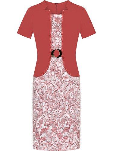 Sukienka damska Aniela III, wiosenna kreacja w wyszczuplającym fasonie.