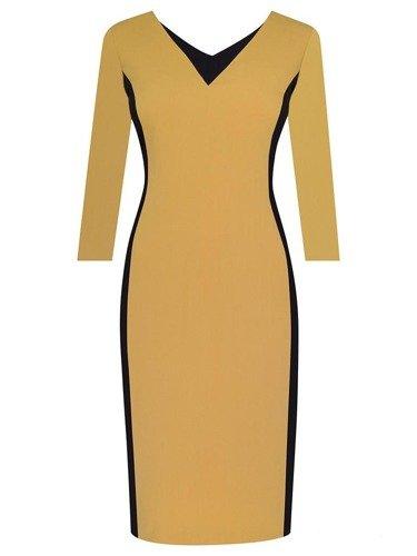 Sukienka damska Astrid I, wyszczuplająca kreacja z tkaniny.