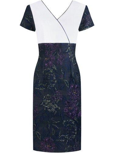 Sukienka damska Astryda III, wiosenna kreacja w kwiaty.