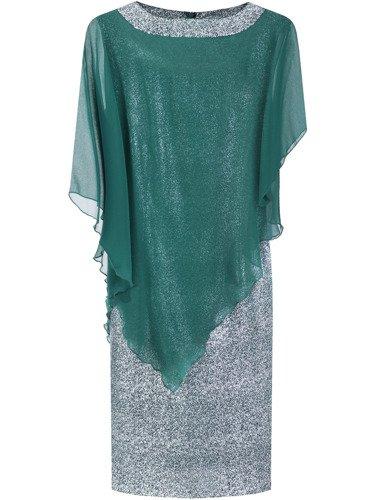 Sukienka damska Fransiska XI, elegancka kreacja w fasonie maskującym brzuch.