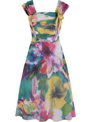 Sukienka damska Giuliana I, zwiewna kreacja z szyfonu.