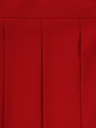 Sukienka damska Hiacynta I, czerwona kreacja z modnymi plisami.